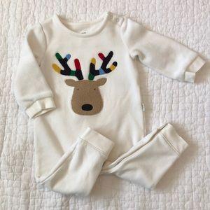 Baby Gap holiday romper, reindeer, 12-18 mo